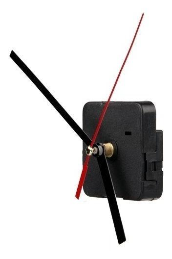Mecanismo De Reloj De Pared Manecillas Negras Roja (pz)