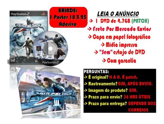 Jogo Soulcalibur Iii P/ Ps2 + Brinde Poster Adesivo 25x18cm