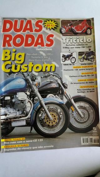 Revista Duas Rodas N° 292 Jan/2000 Big Custom: Vstar/guzzi