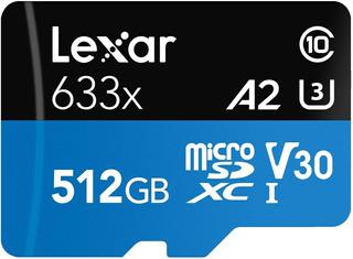 Tarjeta Microsdxc A2 U3 633x 512 Gb De Lexar