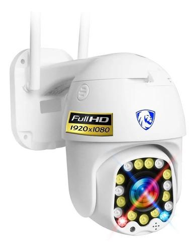 Imagen 1 de 10 de Camara Wifi Exterior Fhd Domo Zoom Nube Video Seguridad App