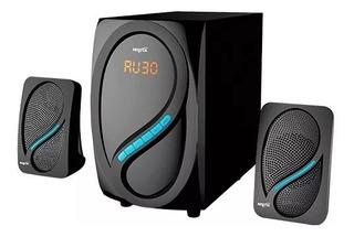 Parlante Pc Notebook Tv 2.1 Conexión 220v 8w Bluetooth Fm Sd