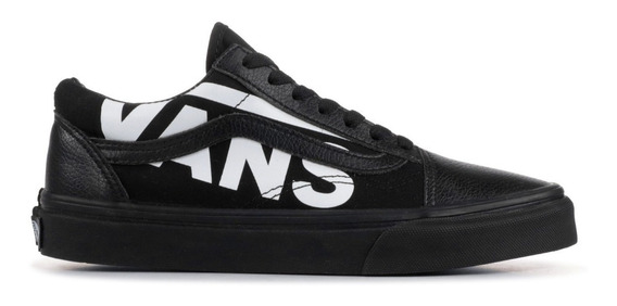 Vans Old Skool White Logo Black 100 % Original Tenis Zapatos