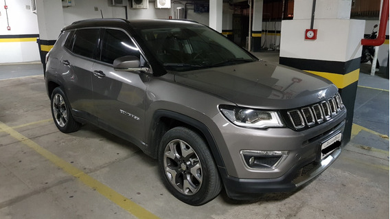 Jeep Compass Limited Flex 2018 Cinza Antique Com Teto Solar