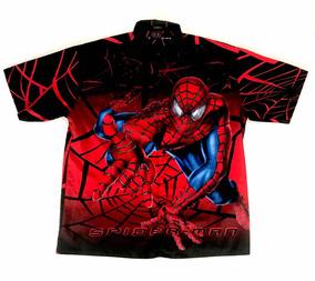 d9a349a76 Camisa Hawai Marvel Spiderman Rayon Hawaiana Xl Web Design