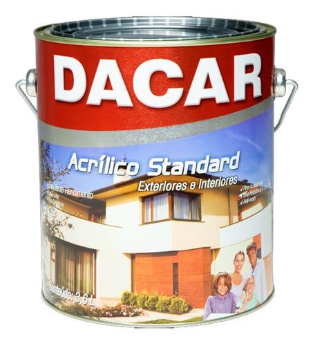 Pintura Acrílico Standard Dacar Antihongo Paredes In/ex 18l