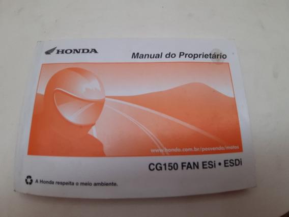Manual Do Proprietario Honda Cg150 Fan Esi Esdi Usado
