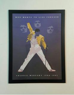 Póster Enmarcado Freddie Mercury Queen Tamaño 30x40cm