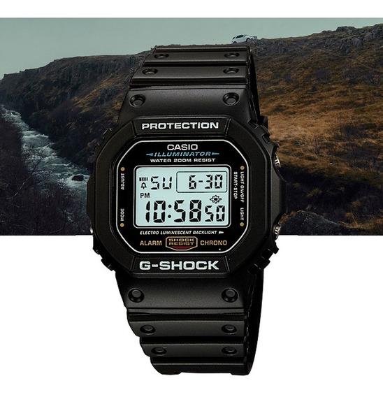 Relógio Casio G-shock Padrão Digital Dw-5600e-1vdf Preto