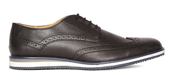Trender Zapato Casual Tipo Oxford En Color Negro