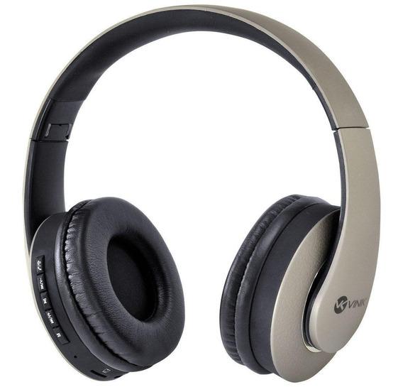 Fone Headset Bluetooth Com Rádio Fm E Leitor De Cartão