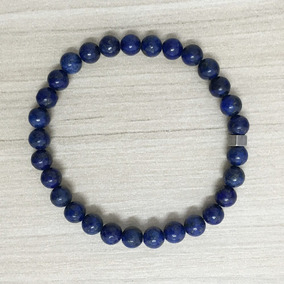 Pulseira Masculina Pedras Naturais Lapis Lazuli 6mm