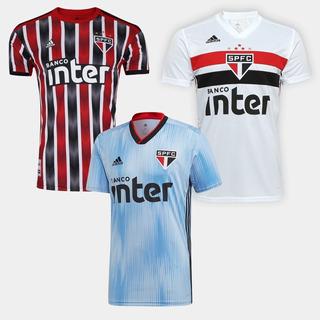 Oferta Kit Com 3 Camisas Oficial Do Sao Paulo + Frete Gratis