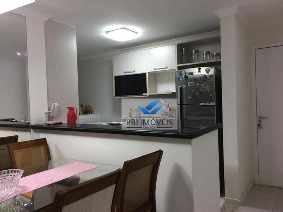 Apartamento Para Alugar, 92 M² Por R$ 3.200,00/mês - Ponta Da Praia - Santos/sp - Ap1033