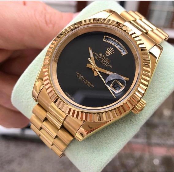 Rolex Presidente Dourado Com Preto Daydate