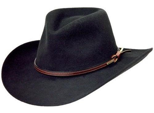 Sombrero De Vaquero Crujiente De Fieltro Woze De Lana Ste