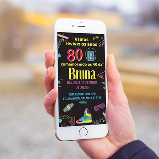 Convite Digital Aniversário: Qualquer Tema Festa