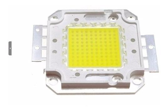 Kit 10 Chip Led 100w Premium 30-36 V Reposição Refletor