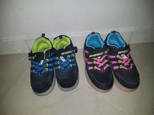 Zapatos De 2 Ruedas Con Luces