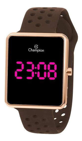 Relógio Feminino Champion Digital Rosa Rosê Marrom Ch40081z