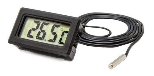 Imagen 1 de 2 de Termómetro Médico Y Ambiental Digital Con Cable Para Liquido