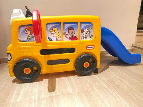 Autobus Escolar Con Tobogan Little Tikes