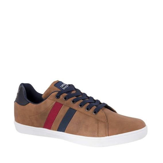 Tenis Casual Urban Shoes 11 Caballero Cafe/negro/blanco Msi