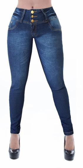 Calça Jeans Feminina Cheris Levanta Bumbum Estilo Pitbull