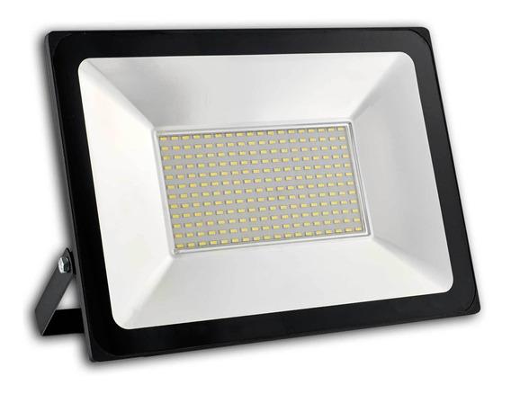 Kit 5 Refletor Led Smd 200w Holofote Prova Dagua Quadra 220v