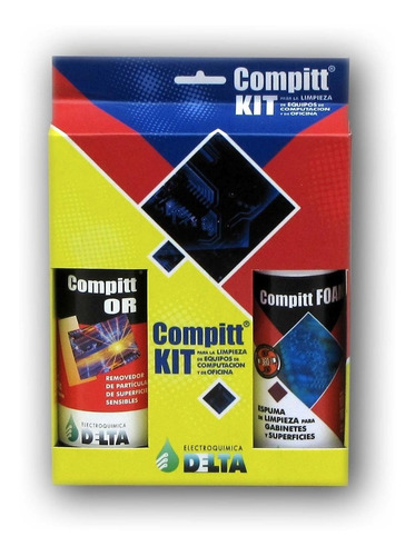 Kit De Limpieza De Equipos De Computación Compitt Delta