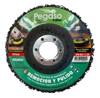 Disco Chaupint Pegaso Aliafor 115 Mm Pulir Fibra Abrasivo