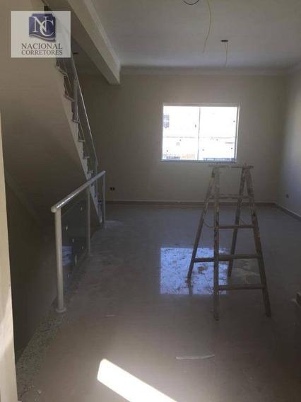 Sobrado Com 2 Dormitórios À Venda, 100 M² Por R$ 395.000 - Parque Novo Oratório - Santo André/sp - So3165