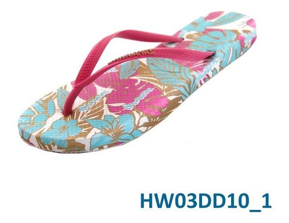 Ojotas Hawaianas De Dama Palm Fucsia