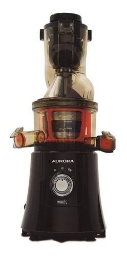 Juguera eléctrica Aurora WIRU E negra y naranja 220V - 240V con accesorios