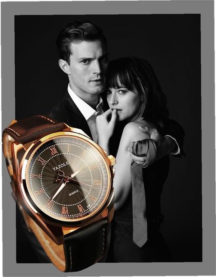 Relógio Masculino 50 Tons De Cinza Christian Grey Original