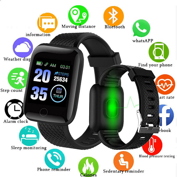 Smartwatch D13 Relógio Inteligente Preto Negro Reloj Inteli