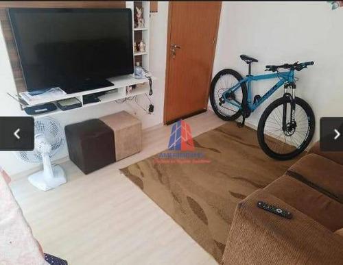 Apartamento Com 2 Dormitórios À Venda, 47 M² Por R$ 175.000 - Residencial Parque Áustria - Jardim Bertoni - Americana/sp - Ap1339