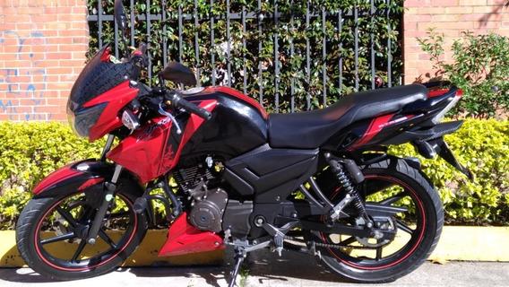 Tvs Apache Rtr 160 Negro - Rojo