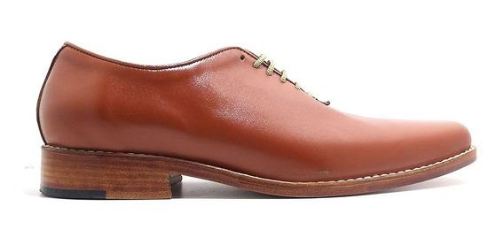 Calzado- Zapato De Cuero Acordonado -fondo Suela. Art 1261