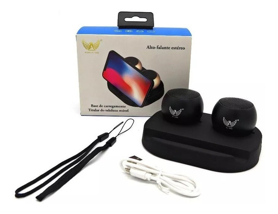 Mini Caixa De Som Bluetooth Portatil Hifi 3w Todos Celulares