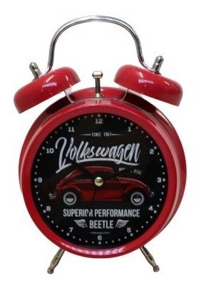 Relógio Despertador Fusca Vintage Collection Vermelho