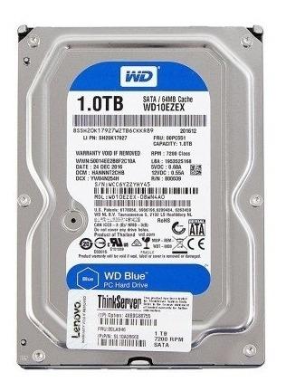 Disco Rígido Para Servidor Lenovo 1tb 7.2k Sata 4xb0g88755