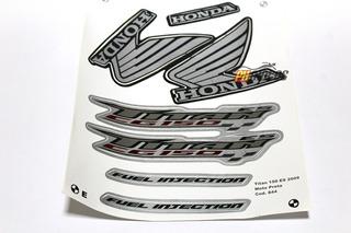 Kit Adesivo - Jogo De Faixa - Titan 150 Es 2009 Preta