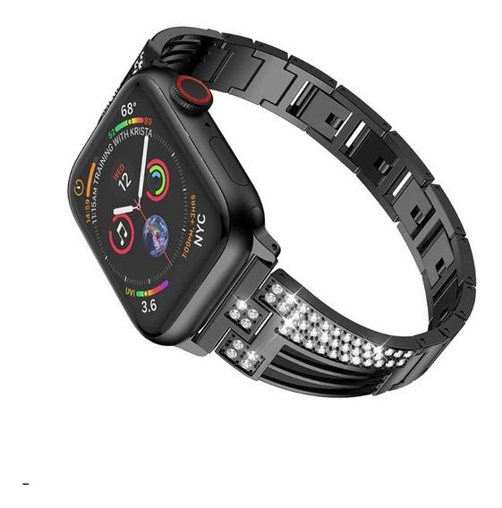 Correa Extensible Apple Watch 42mm 44mm Eslabón De Diamantes