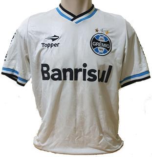 Camisa Grêmio Branca Topper #22 Banrisul Unimed G