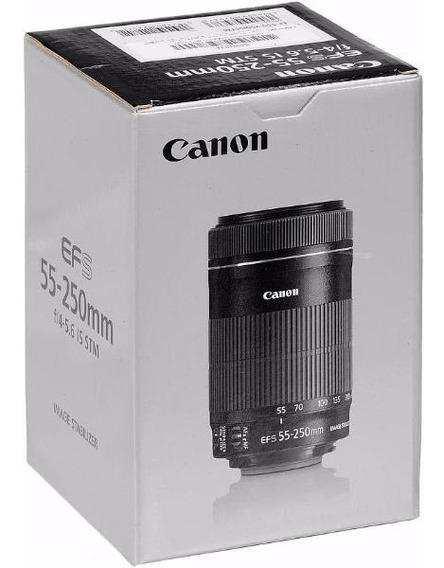 Lente Canon Ef-s 55-250mm F/4-5.6 Is Stm Garantia Canon Nfe!
