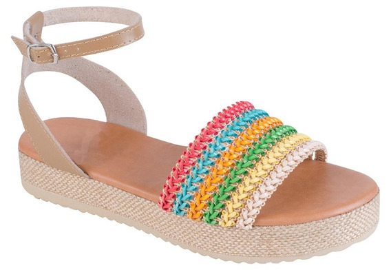 Sandália Feminina Flatform Jurerê Mercedita Shoes Bege