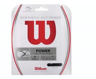 Cuerda Para Raqueta De Tenis Wilson Gut Power 16 Negro