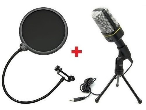 Microfone Condensador Sf-920 + Pop Filter Podcast Studio Xl