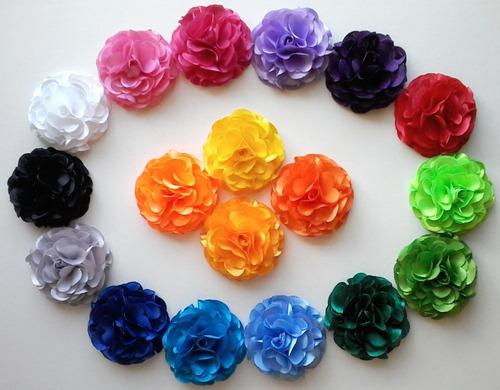 Flores De Tela Rosas Rositas 5,5 Cm